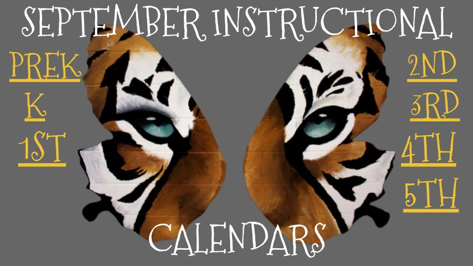 Sept. Instructional Calendars