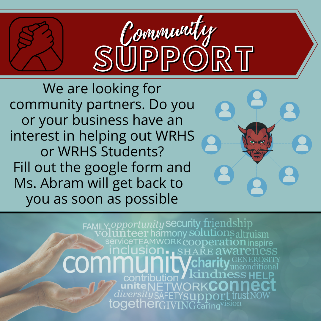 Community Support Flyer