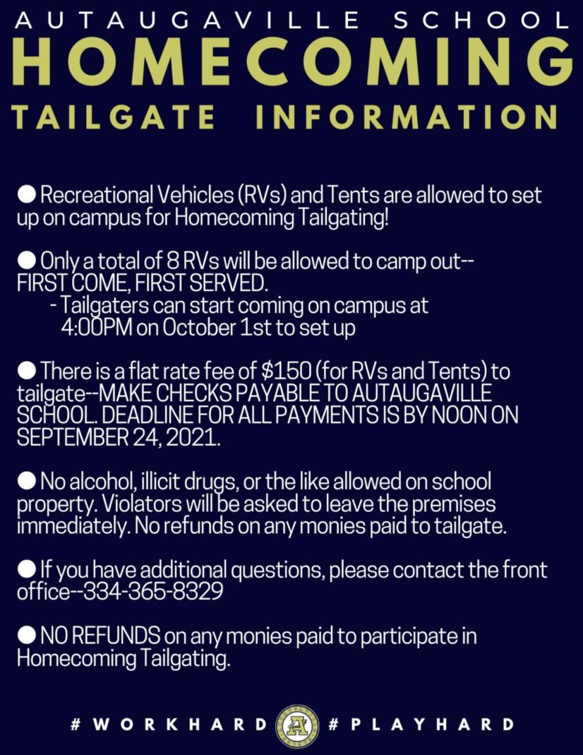 Homecoming Tailgate Info