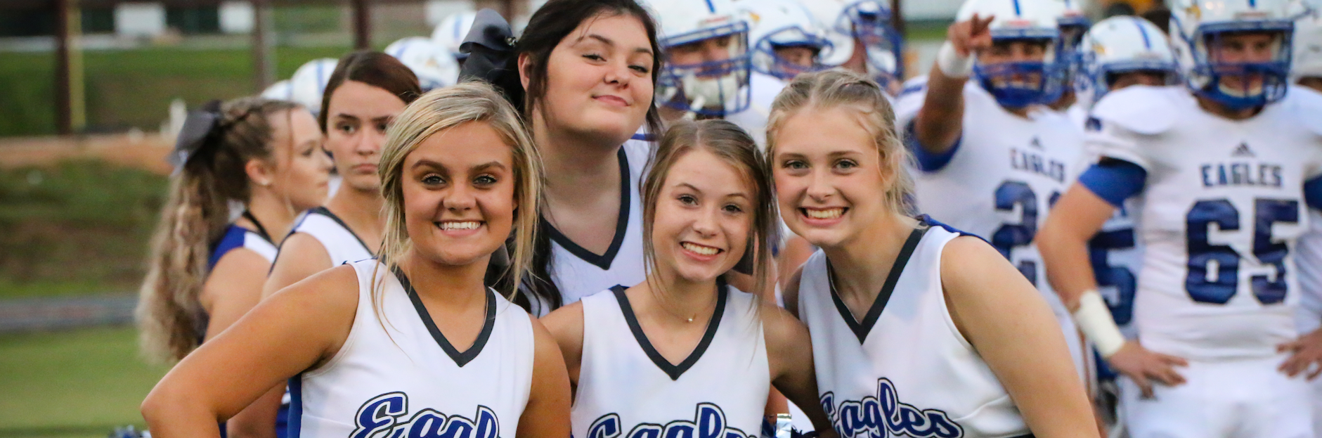 Cheerleaders Posing for Picture