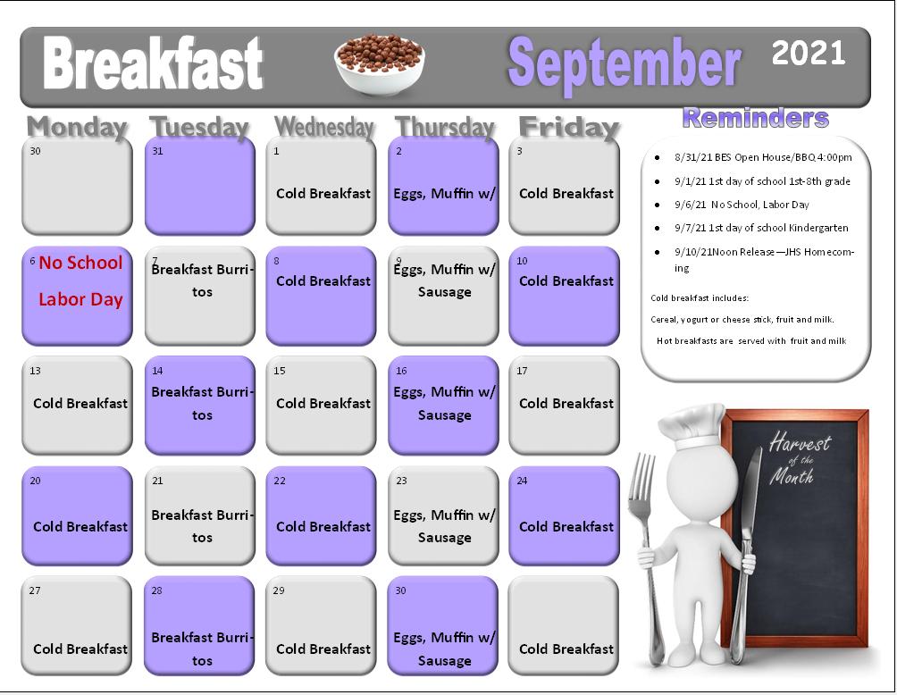 Sept. Breakfast