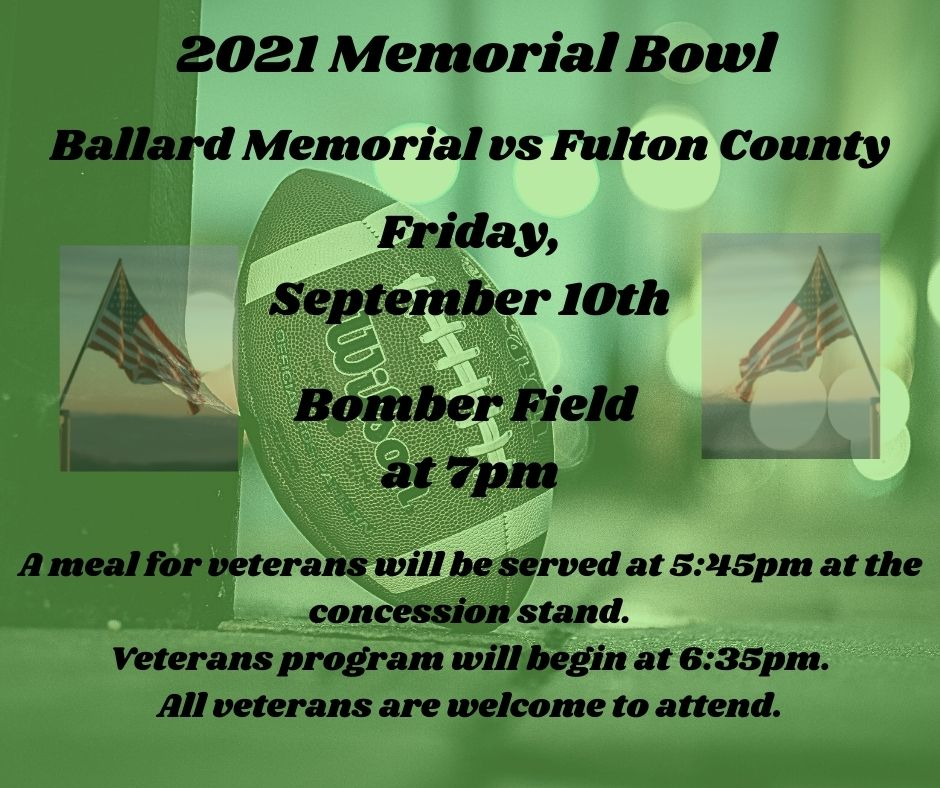 Memorial Bowl is set for Friday.