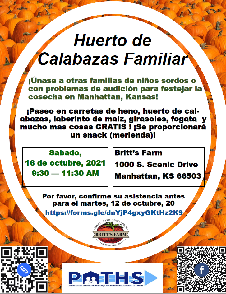 Britt's Family Pumpkin Patch Flyer in Spanish