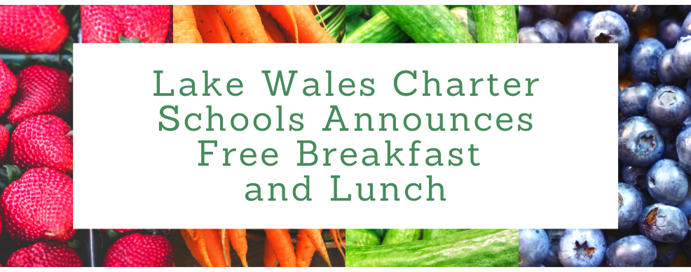 Fruits and Vegetables announcing free breakfast and lunch.
