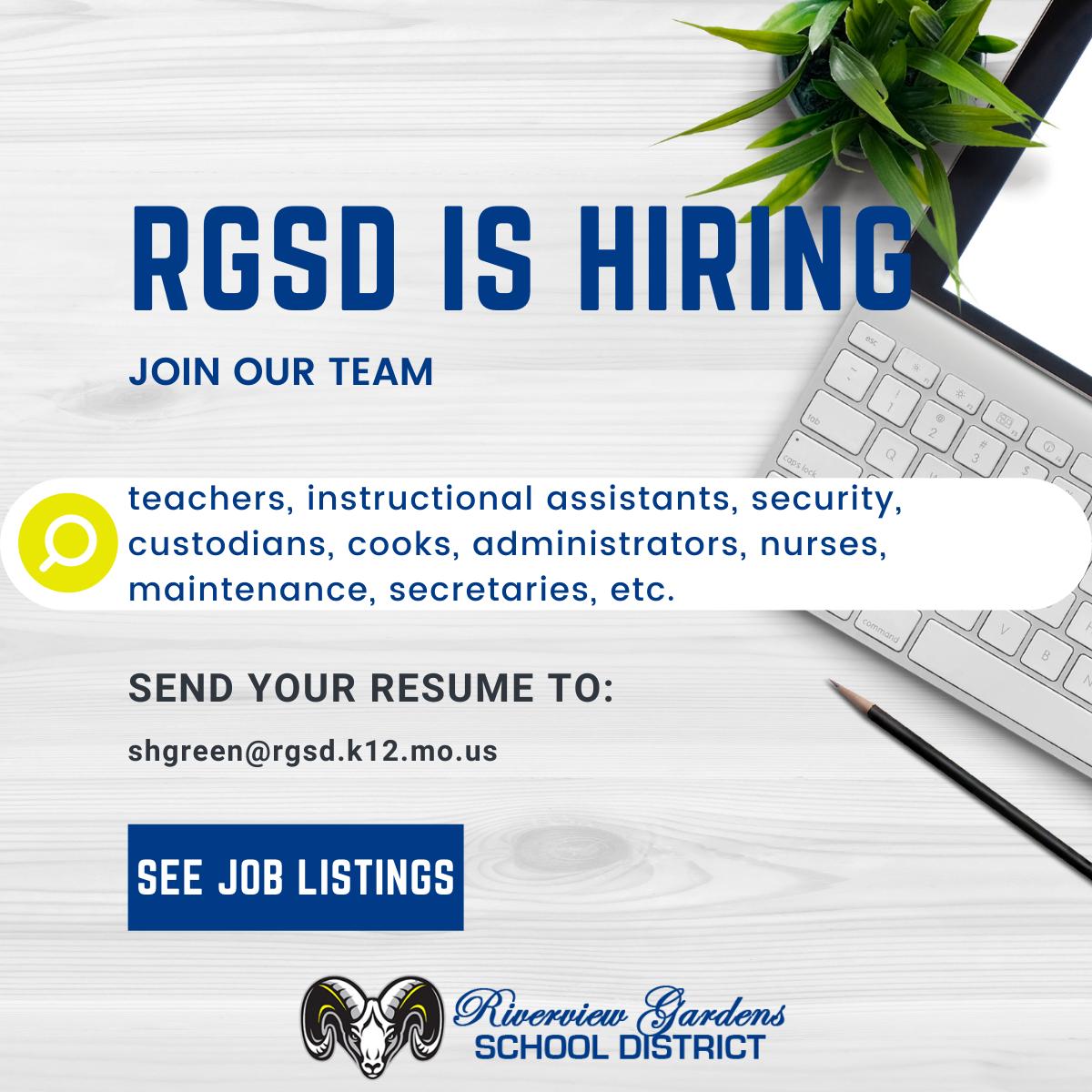 RGSD is hiring
