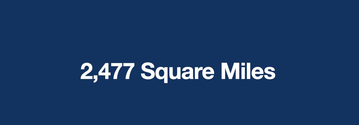 2477 Square Miles