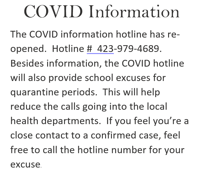 COVID Hotline