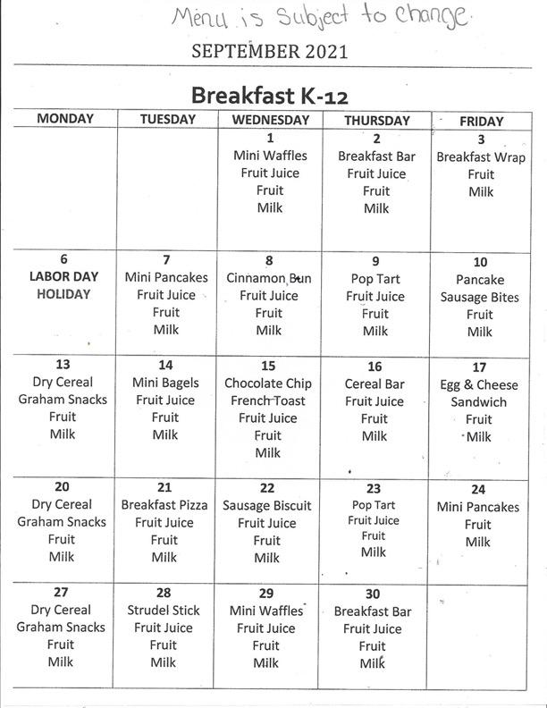 September Breakfast