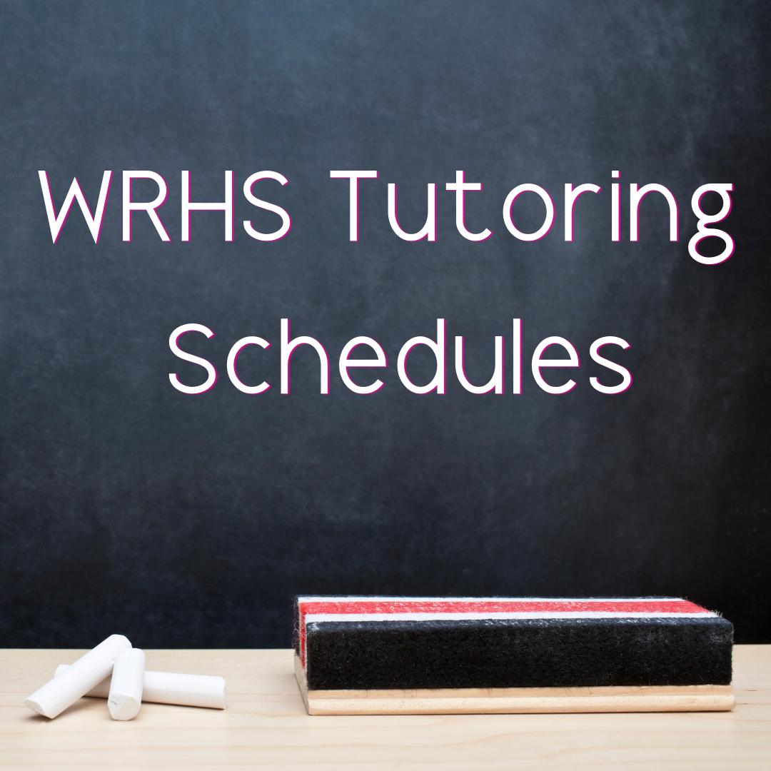 Tutoring Schedules