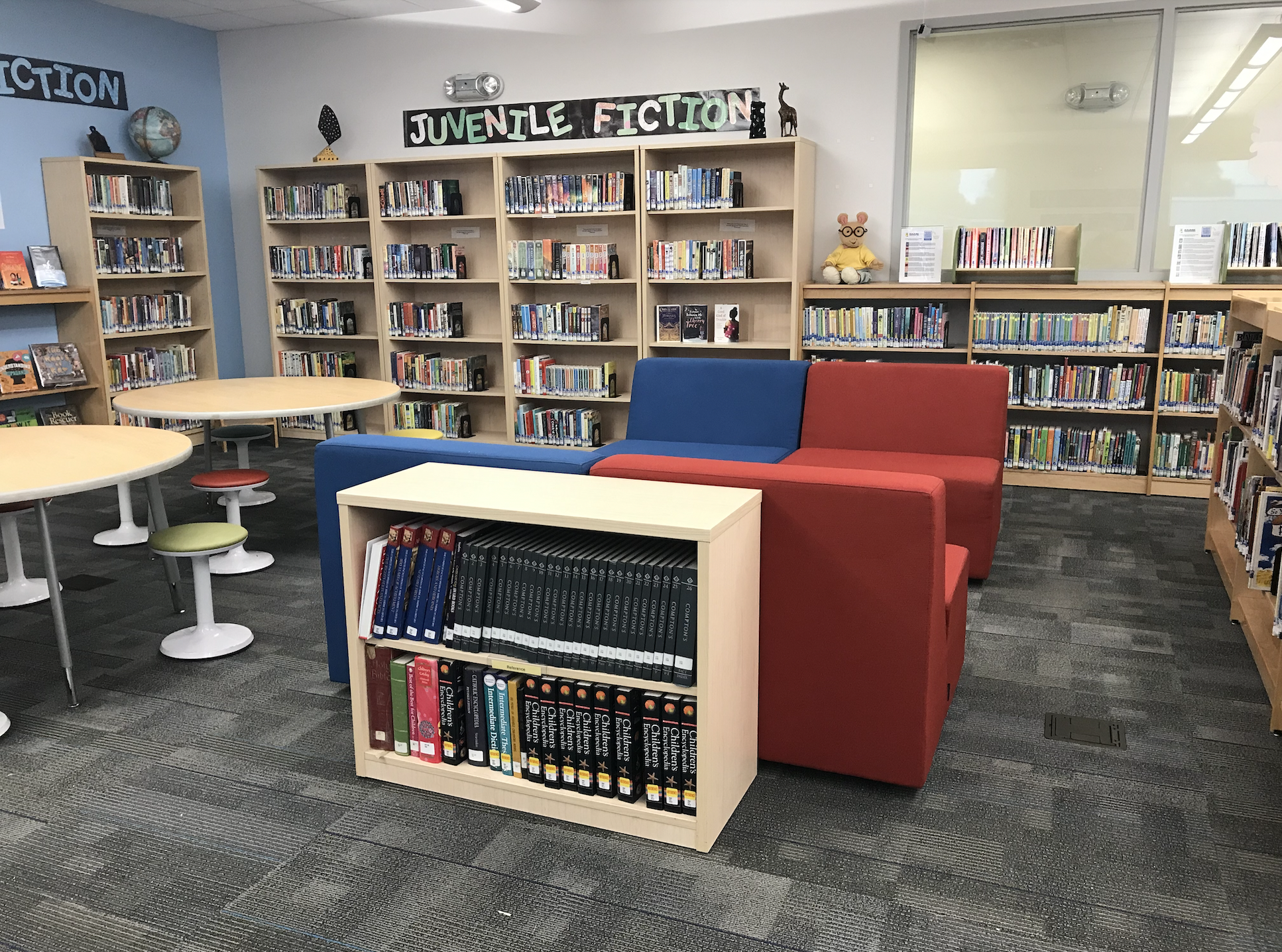 Learning Commons flexible seating areas