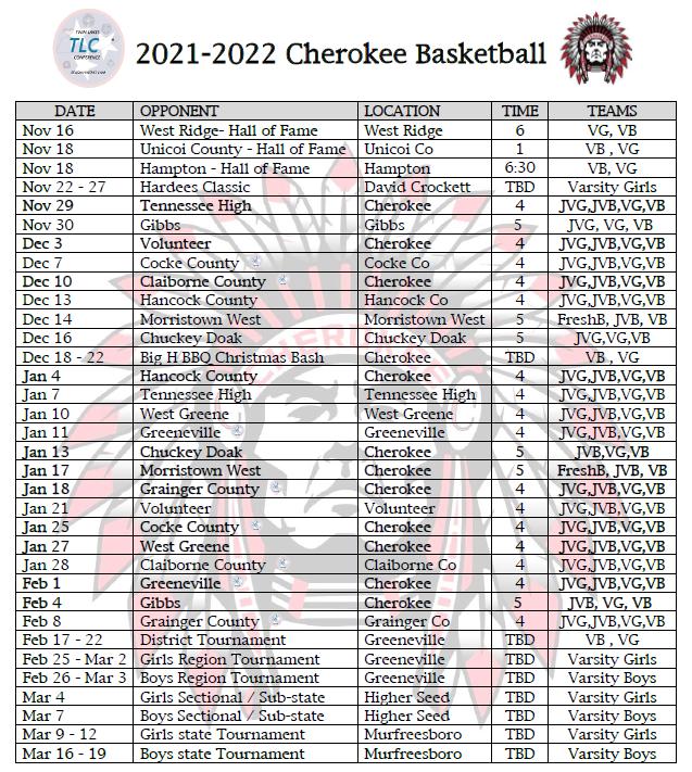 2021-2022 bball schedule