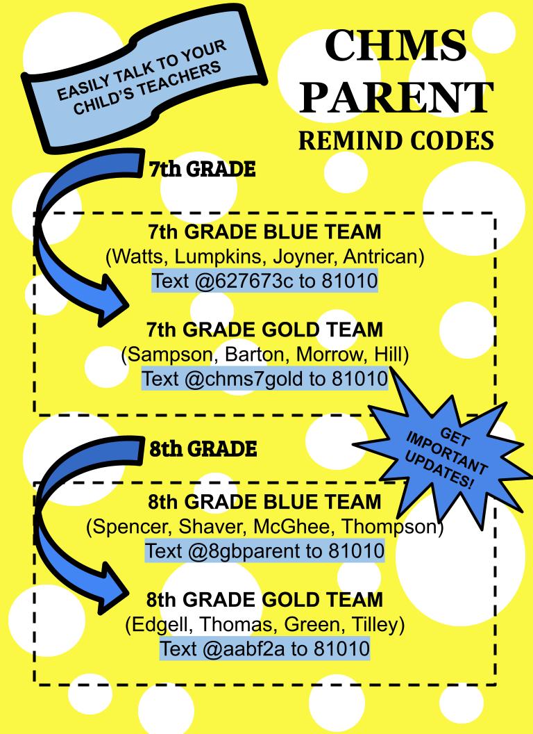 Remind Codes