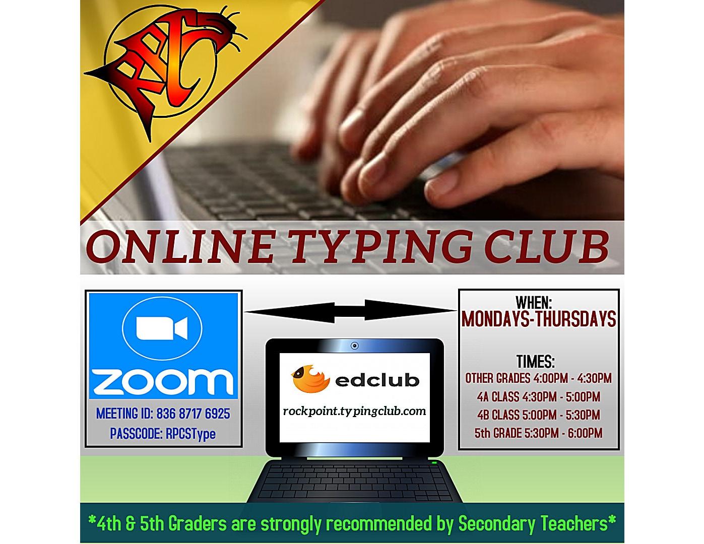 Afterschool Online Typing Club