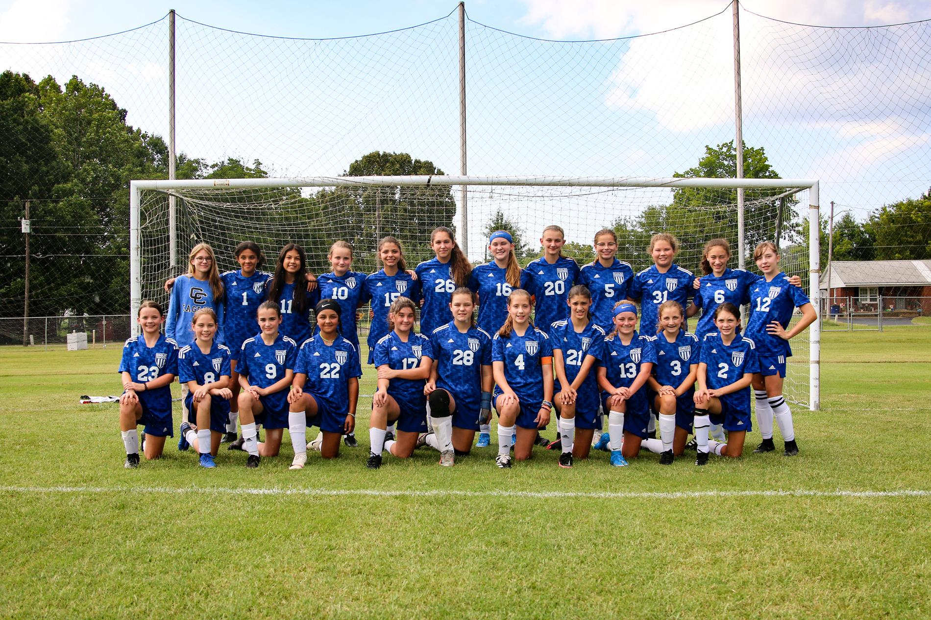 JH Girls Soccer Team Picture