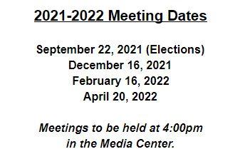 2021-2022 School Council Meeting Dates