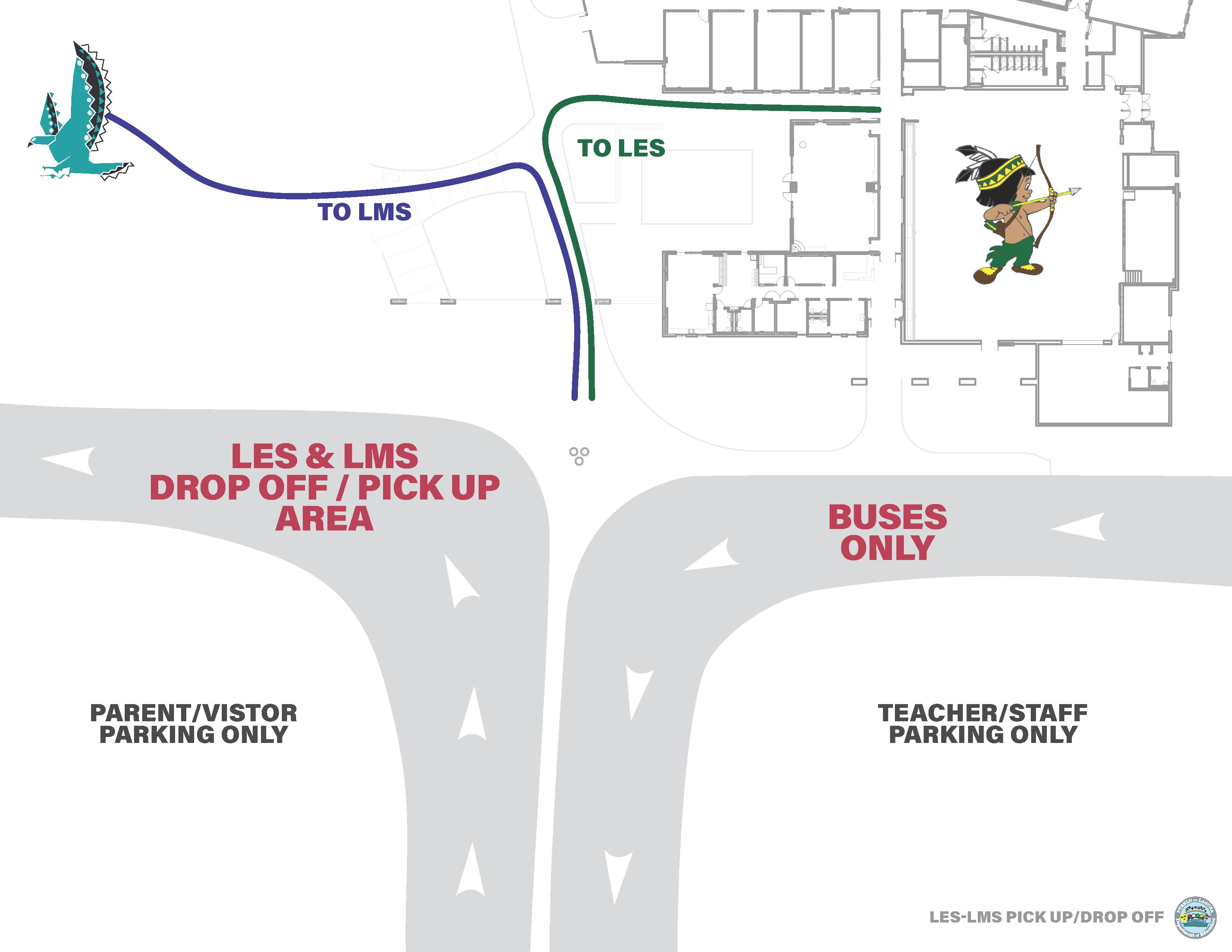 LES/LMS Student Drop-Off/Pick-Up Area