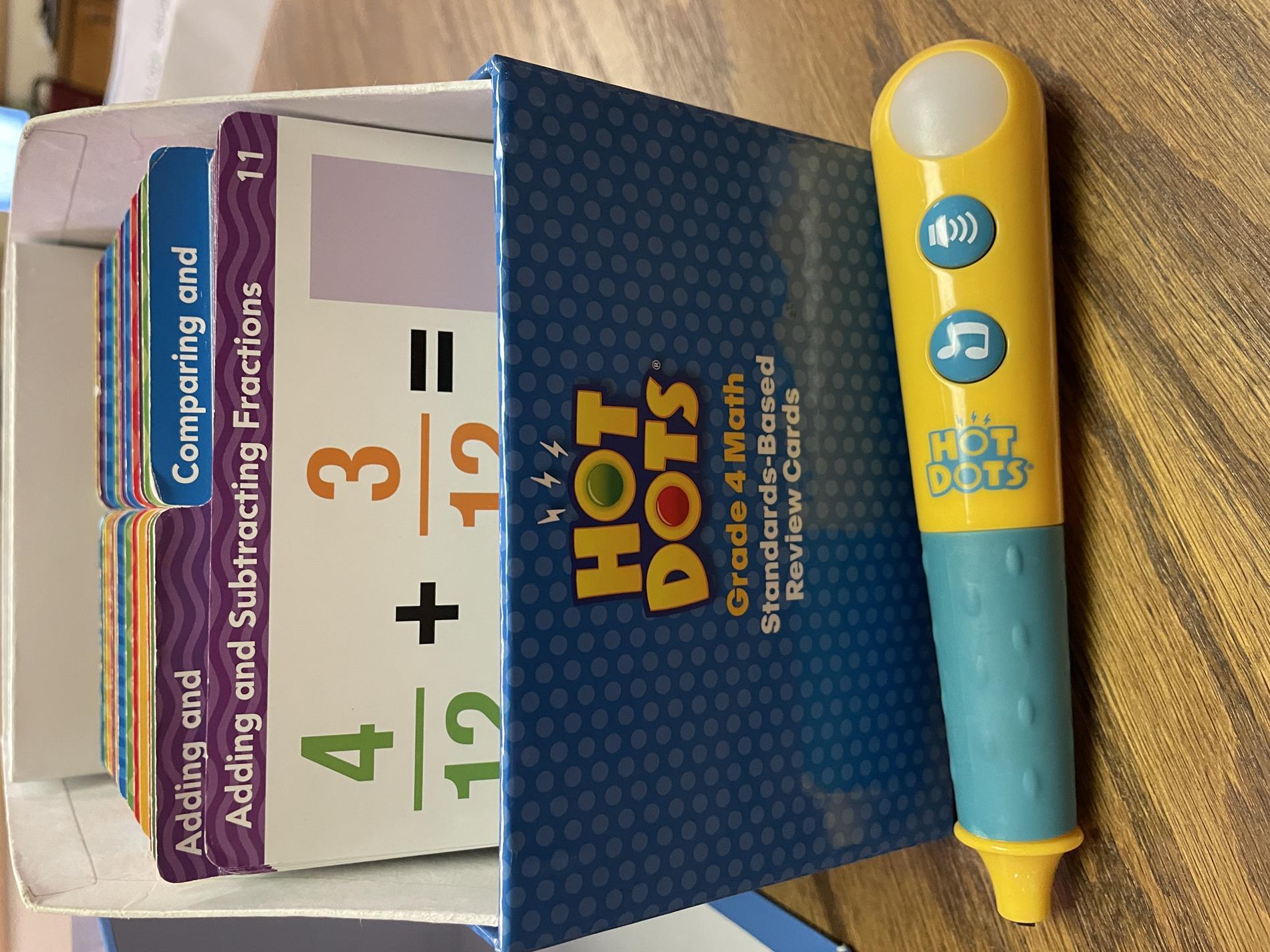 hot dots 4th grade math review