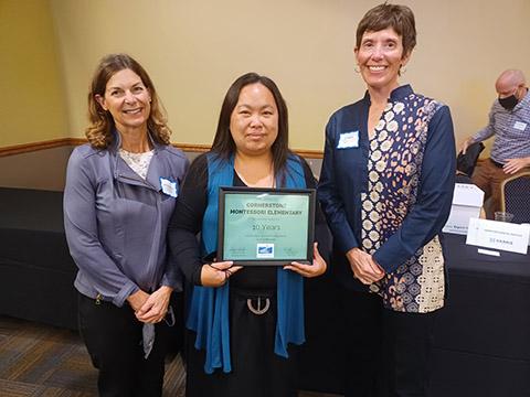 CMES receives 10-year Award from MACS