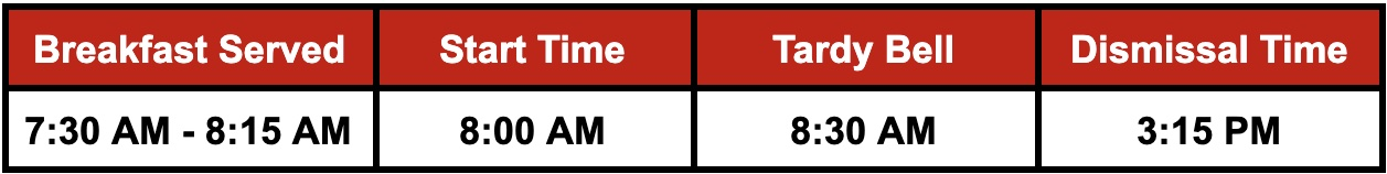 JMES Bell Schedule