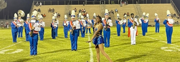 TCHS Marching Band members