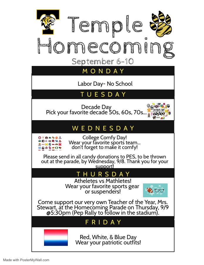 Temple Homecoming Flyer