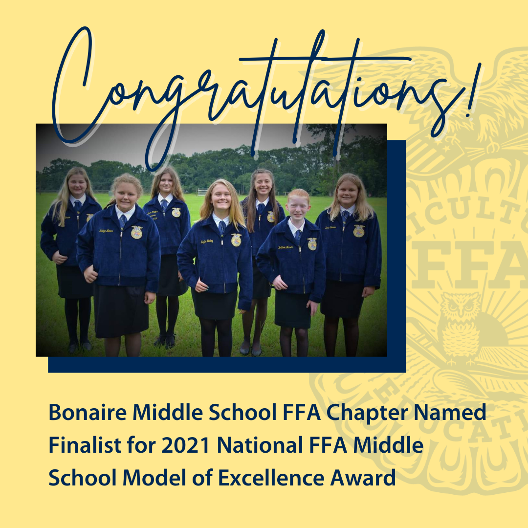 BMS FFA Chapter Named Finalist