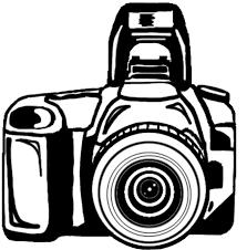 black illustration of a digital camera