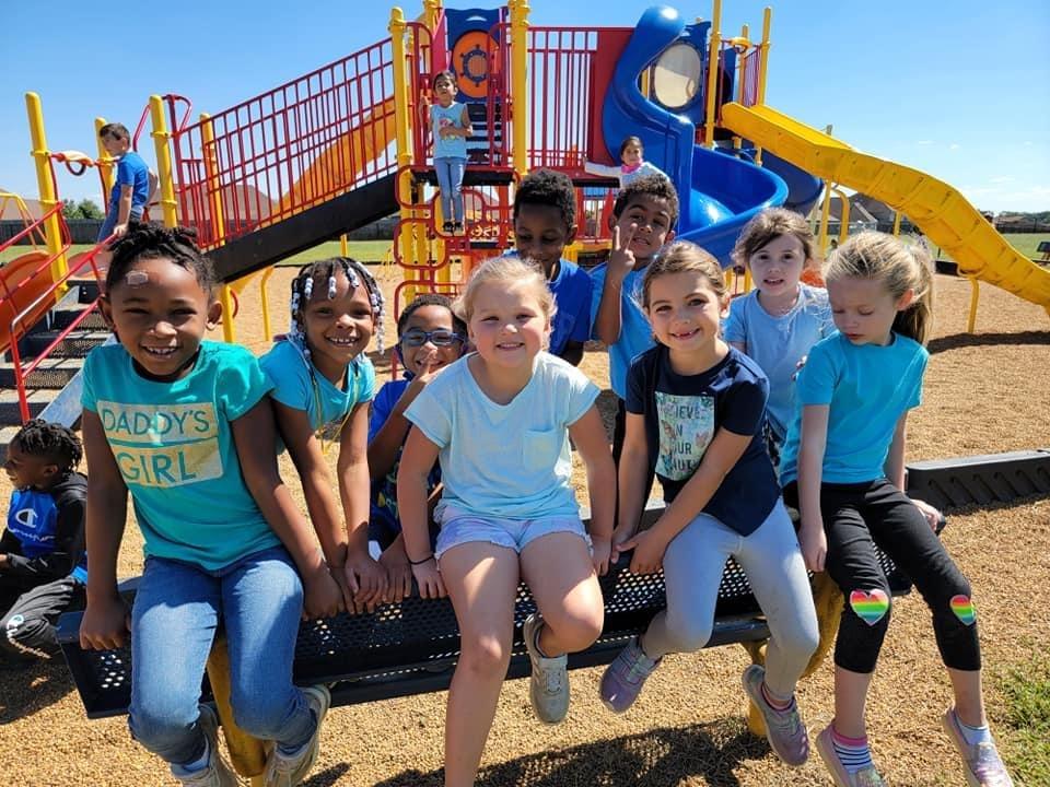 Students at recess.
