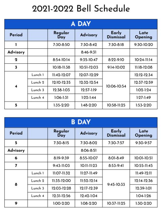 Bell Schedules
