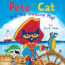 """Click to listen to the story """"Pete the Cat and the Pirate Map"""""""