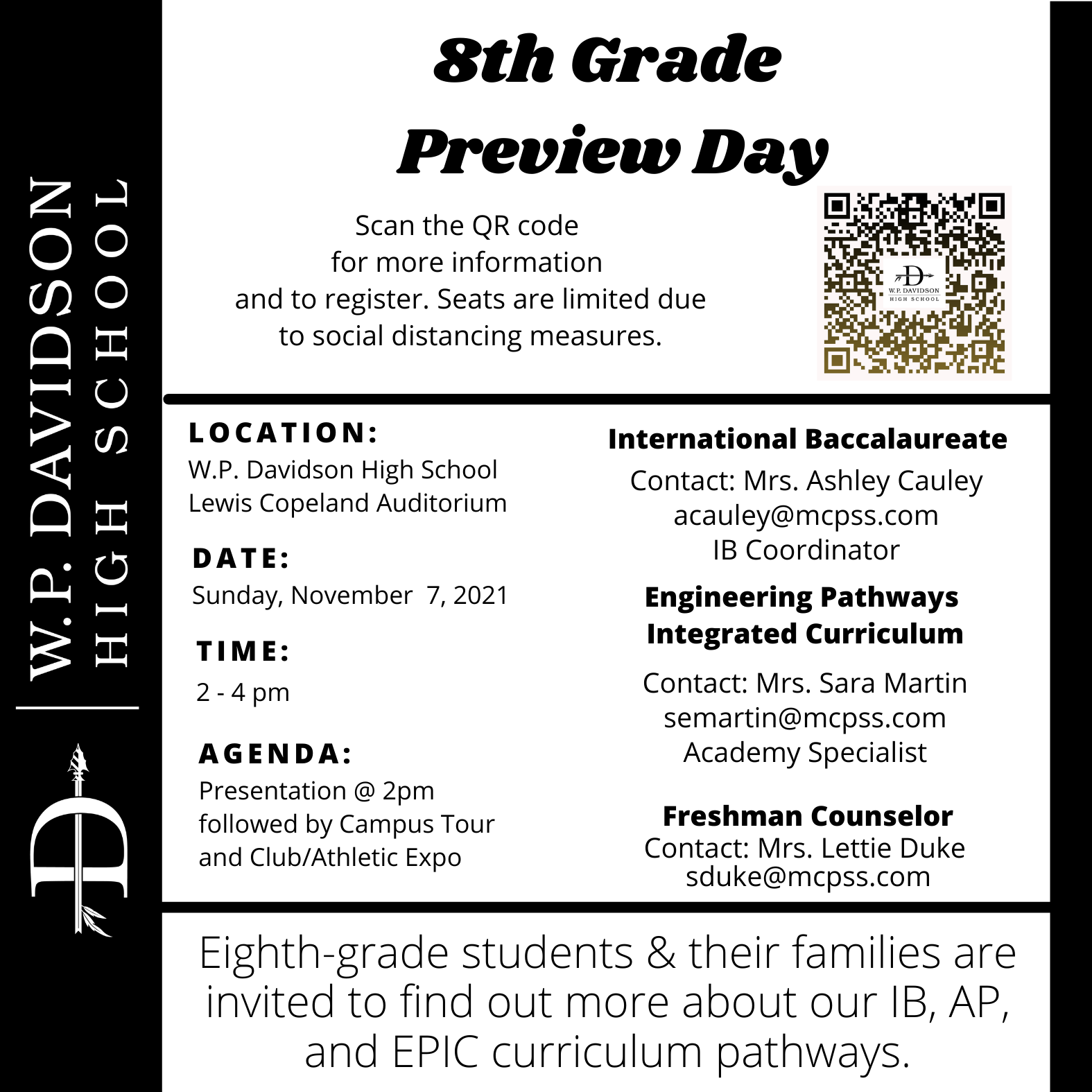 8th Grade Preview Day Invitation