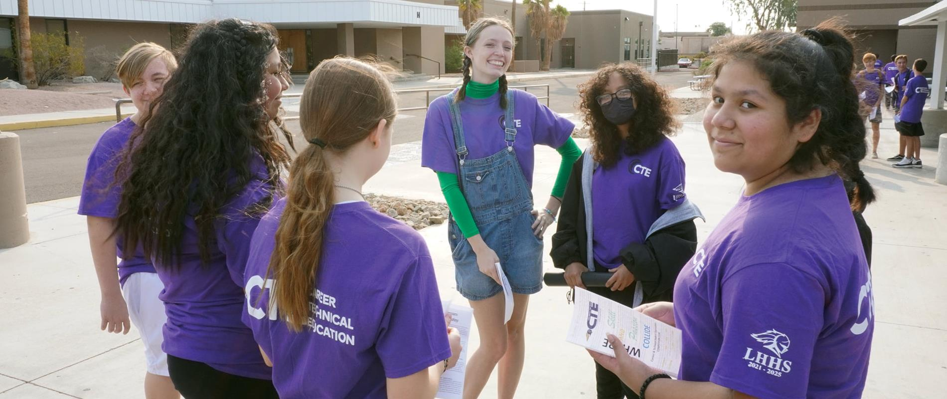 Thunderbolt students visit LHHS campus to learn about CTE