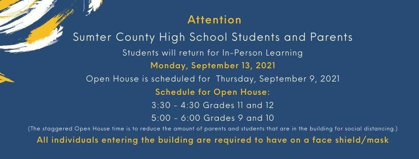 open house rescheduled