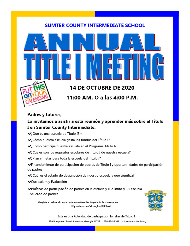 Title 1 Annual Meeting Spanish
