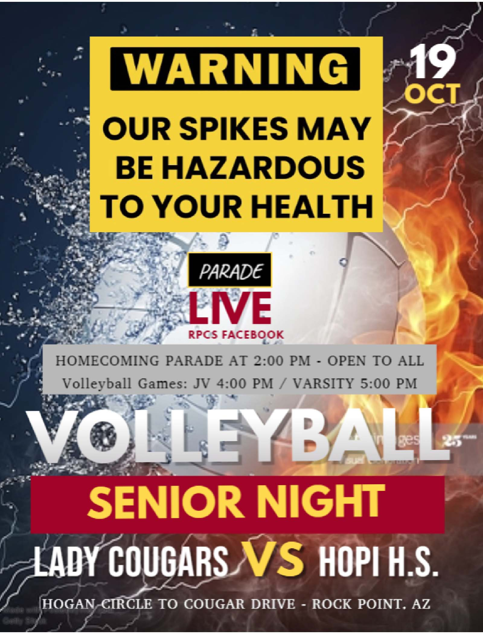 Volleyball Homecoming Parade Flyer