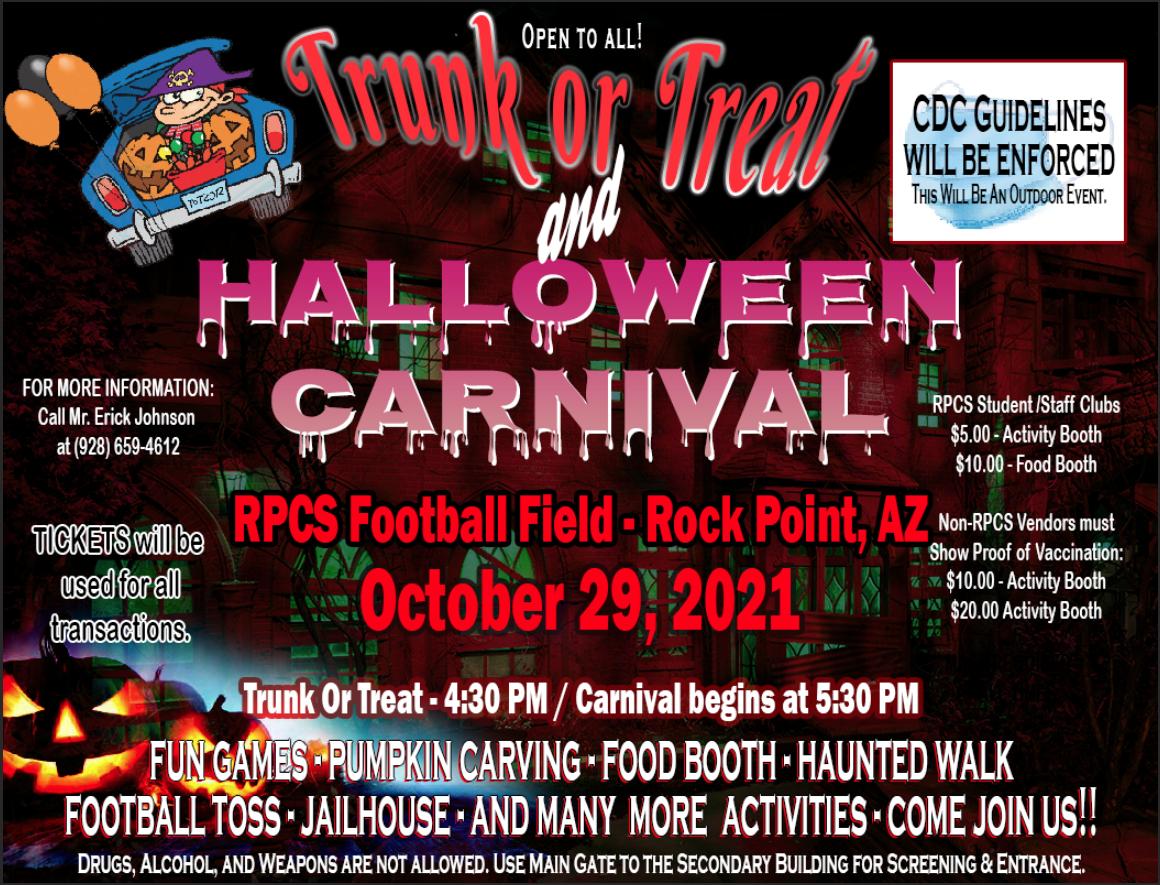 Trunk-Or-Treat Halloween Carnival Flyer
