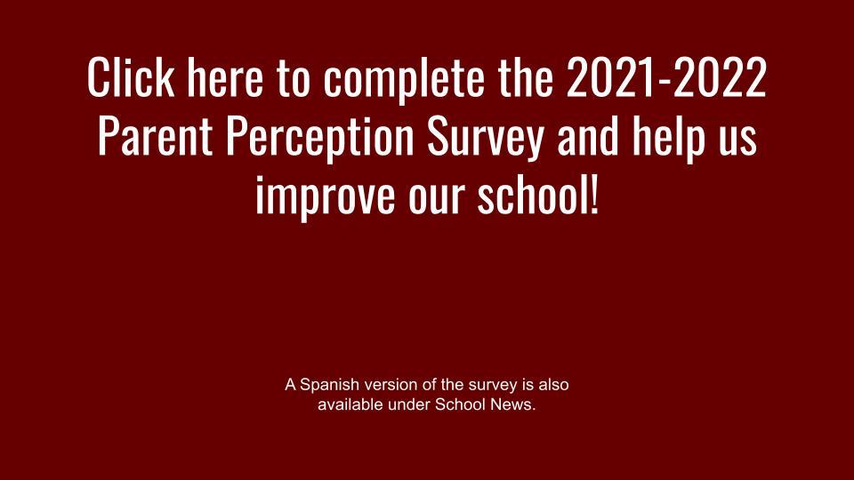 parent perception survey