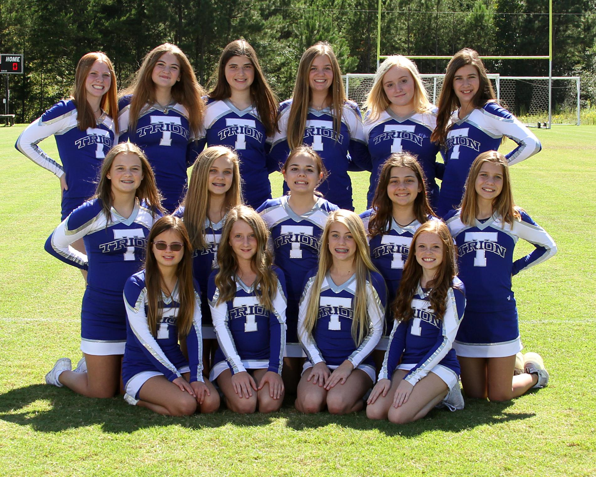 Trion Middle School Competition Cheerleaders