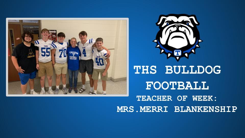 THS FOOTBALL TEACHER OF THE WEEK: MERRI BLANKENSHIP