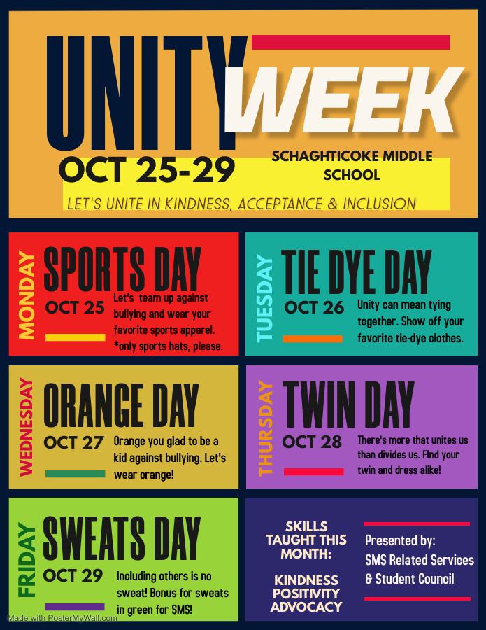 Unity Week Activities Flyer