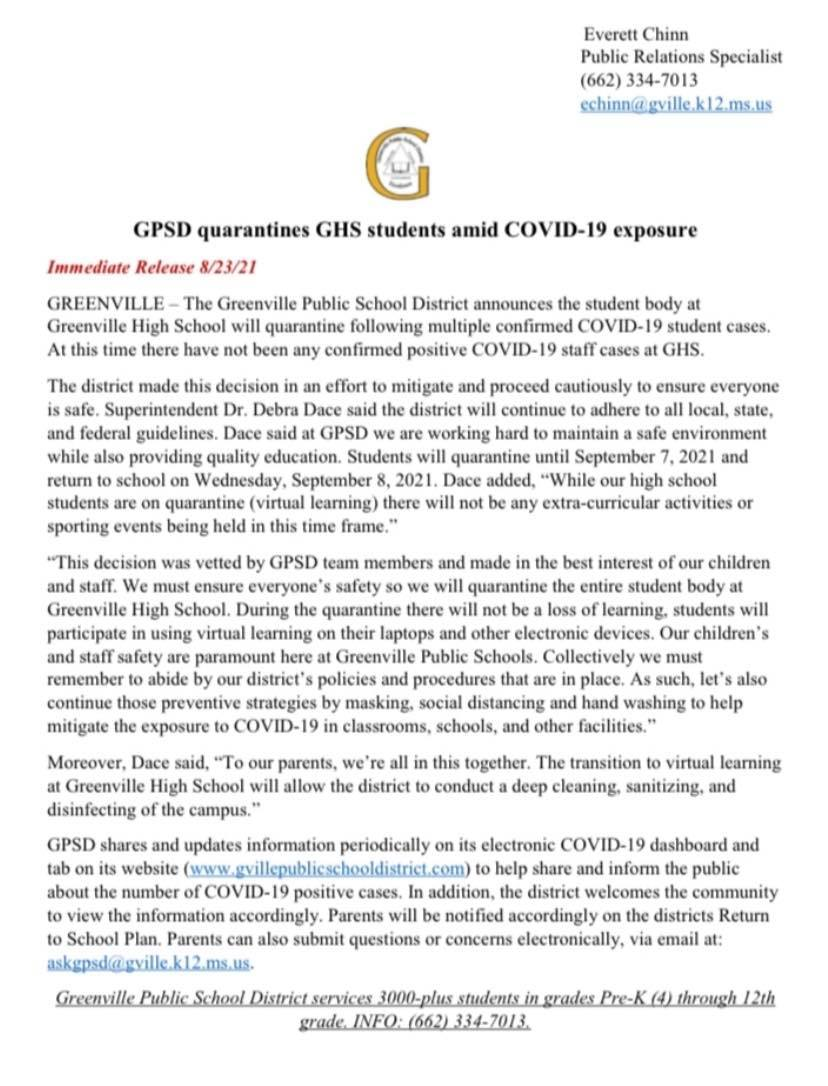 GHs press release 8-23-21