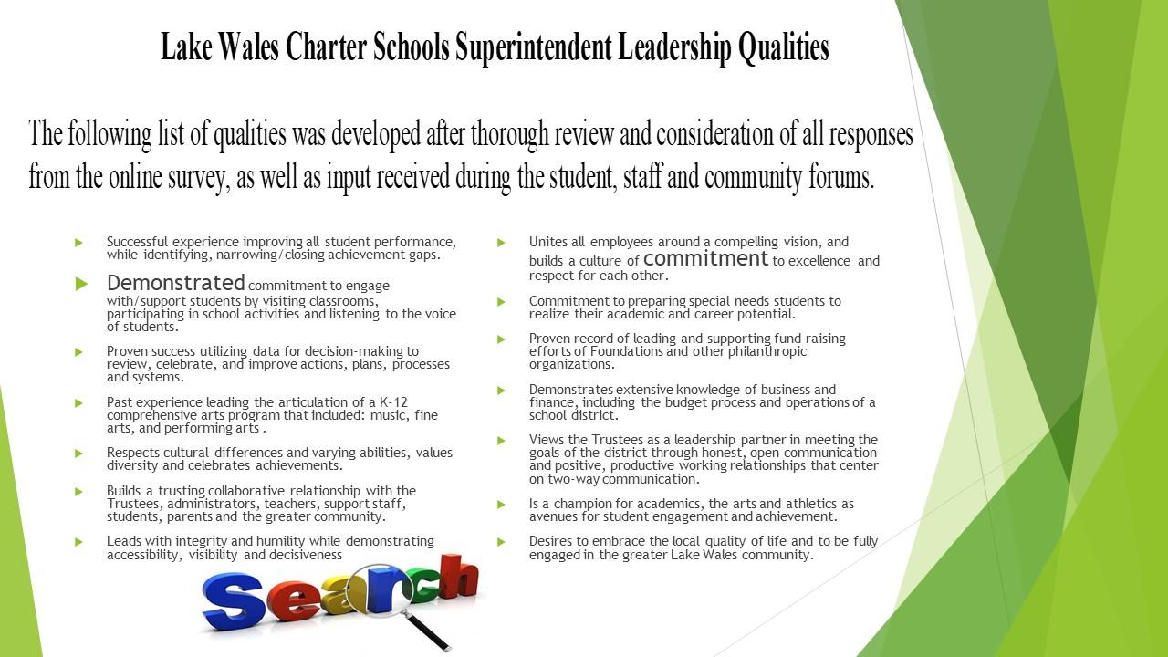superintendent qualities