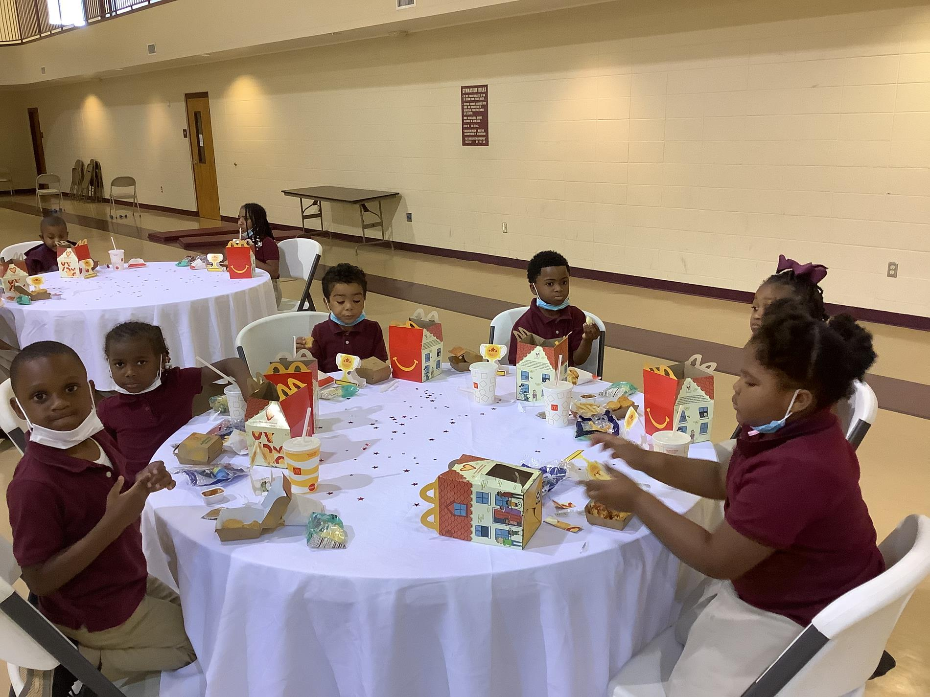 Special Lunch with Students who met their AR Goals