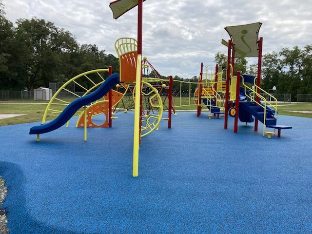 New Playground Equipment at Sally D. Meadows from Side