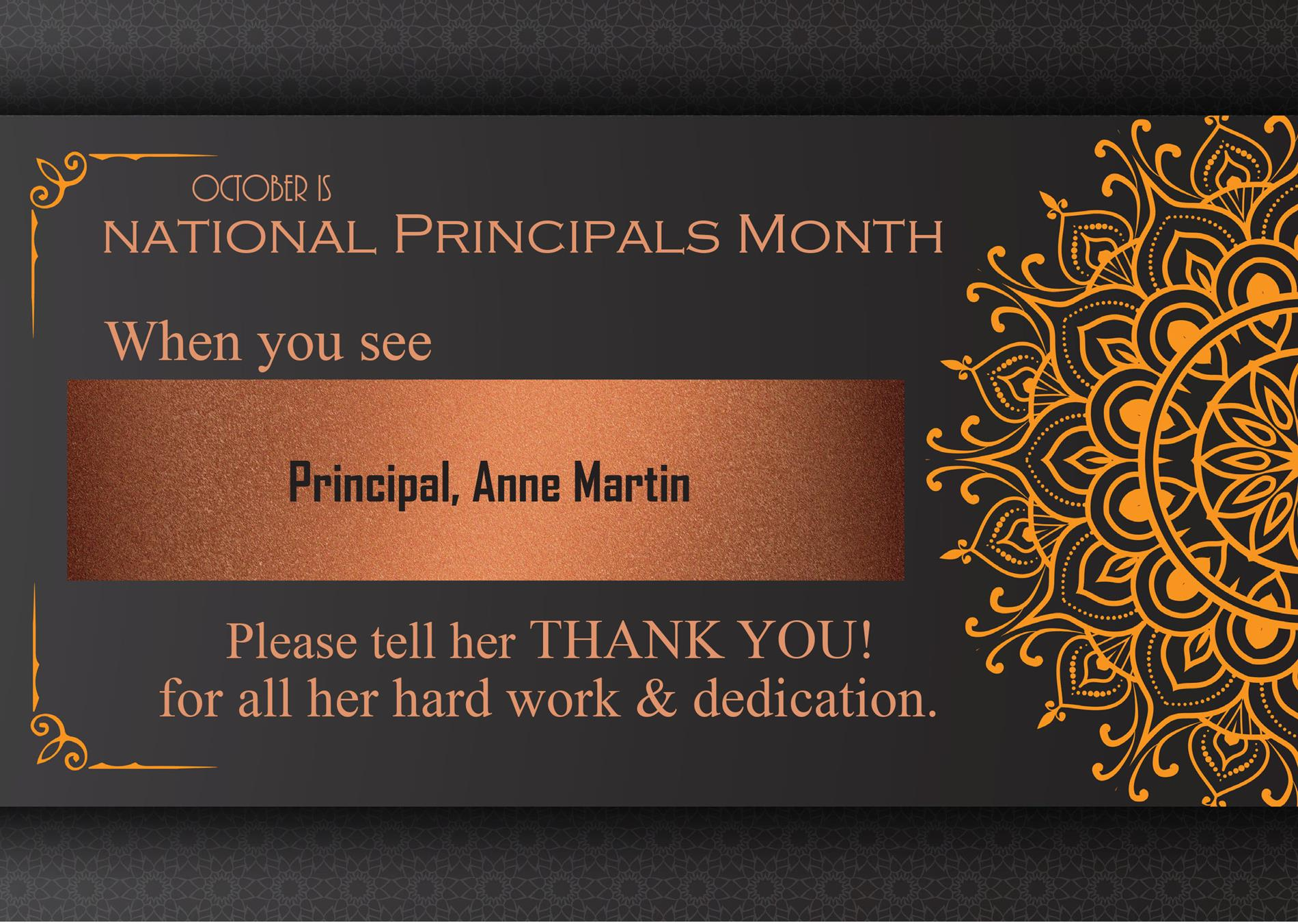Principal's Month graphic