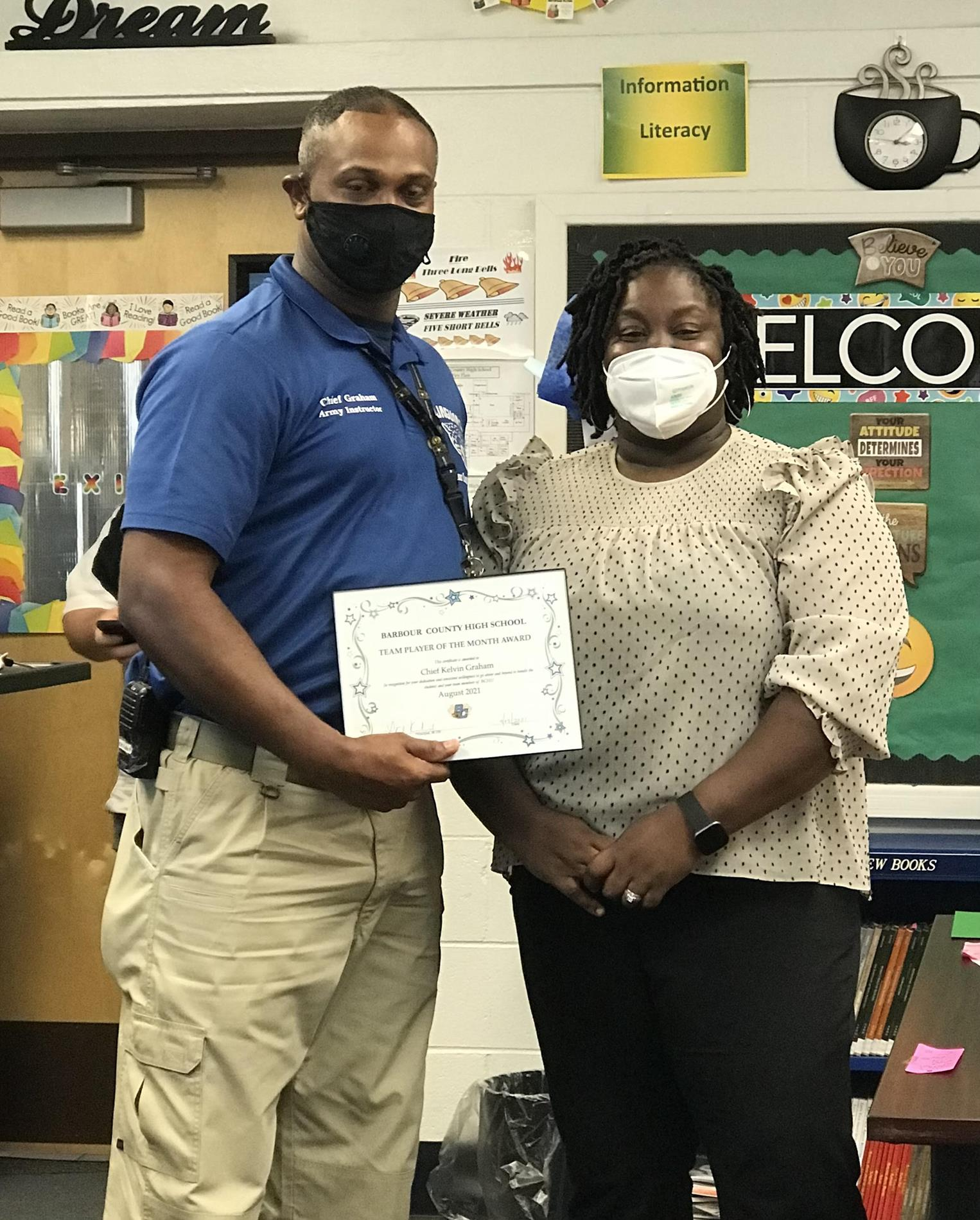 August Teacher of the Month