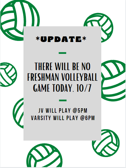 Frosh Volleyball Cancelled