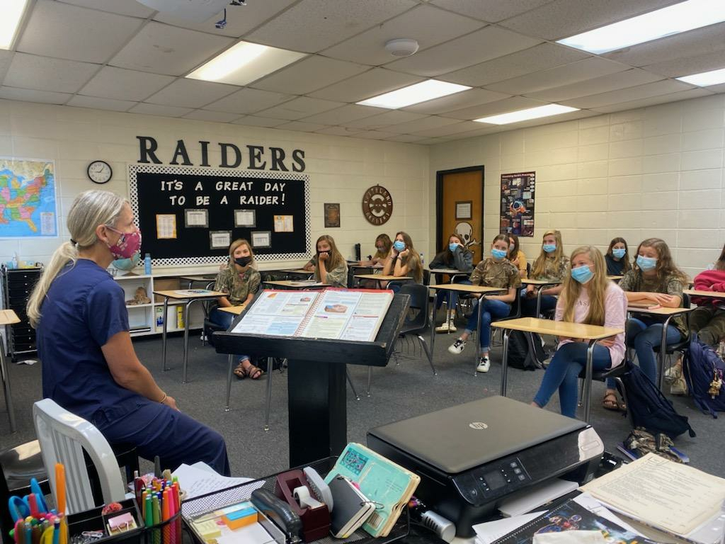 Dr. Patty Fennessey Visits Girls' Health Class