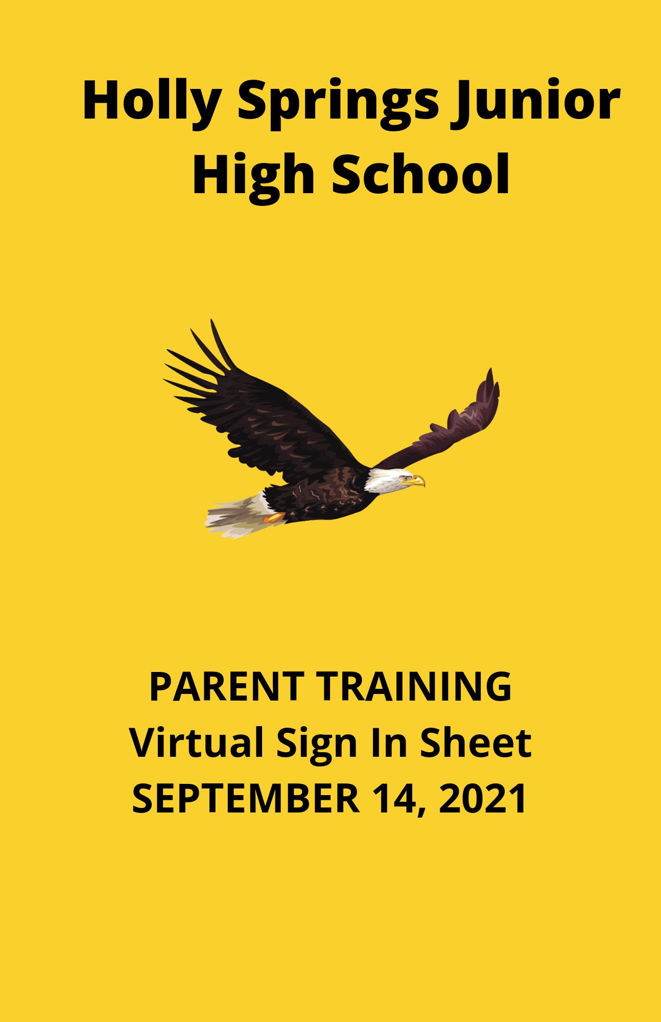 Parent Training Sign In