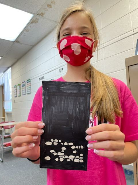 """Emma Anderson with her """"blackout poetry"""""""